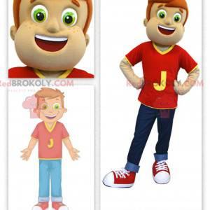 Maskottchen des kleinen Jungen - Redbrokoly.com