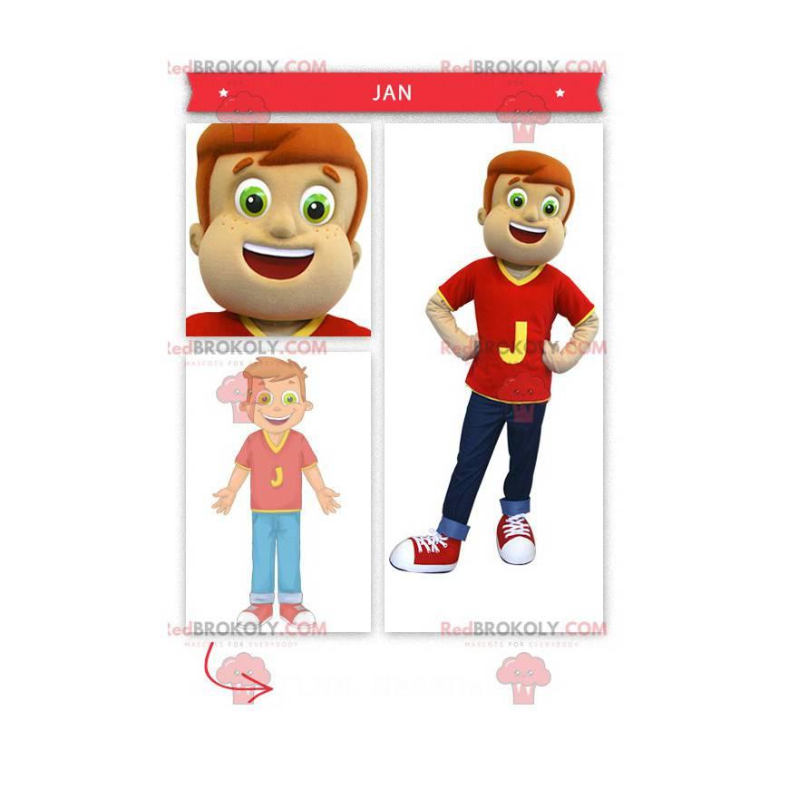 Little boy mascot - Redbrokoly.com