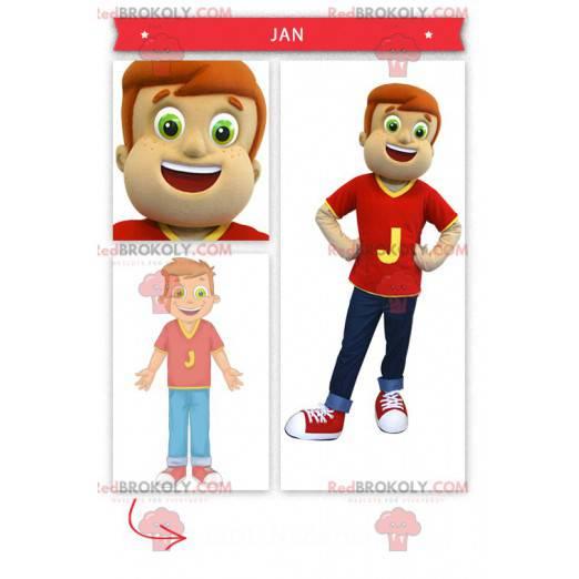 Malý chlapec maskot - Redbrokoly.com