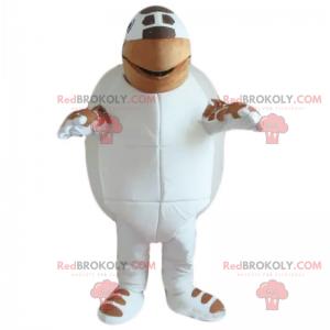 Mascotte tartaruga bianca e marrone - Redbrokoly.com