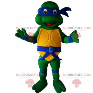 Maskot želvy ninja - Leonardo - Redbrokoly.com
