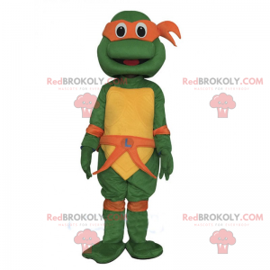 Mascote das tartarugas ninja adolescentes mutantes -