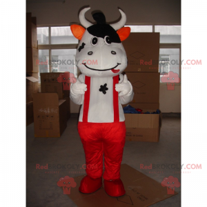 Kráva maskot s kombinézou - Redbrokoly.com