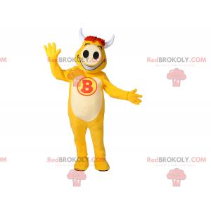 Maskot žlutá kráva - Redbrokoly.com