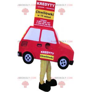 Maskot červené auto - Redbrokoly.com