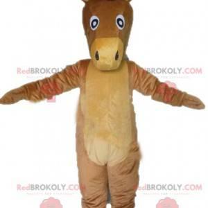 Obří osel hnědý a béžový kůň maskot - Redbrokoly.com