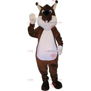 Mascote esquilo marrom - Redbrokoly.com