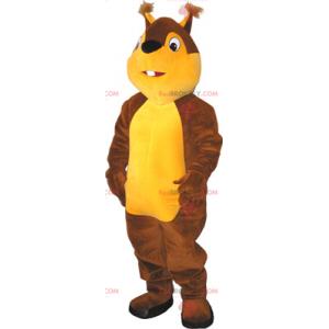 Dvoubarevný veverka maskot - Redbrokoly.com