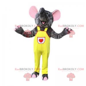 Slon maskot s jeho žluté kombinézy - Redbrokoly.com