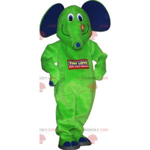 Elefantmaskot med sommerfuglen - Redbrokoly.com