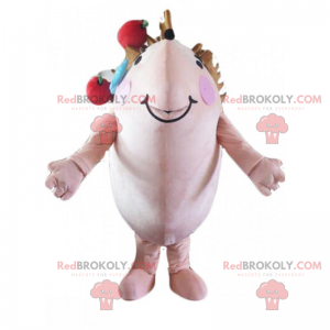 Pindsvin maskot - Redbrokoly.com
