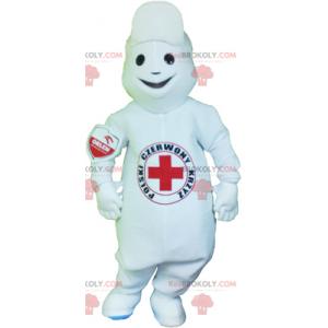 Sykepleier maskot - Redbrokoly.com