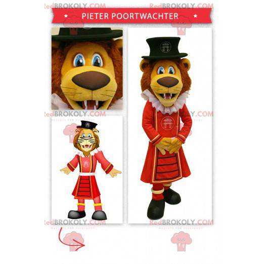 Lion maskot kledd som en konge - Redbrokoly.com