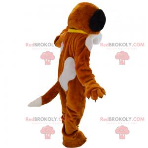 Bear mascot with his karate outfit - Redbrokoly.com