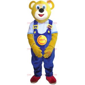 Bear mascot with blue overalls - Redbrokoly.com