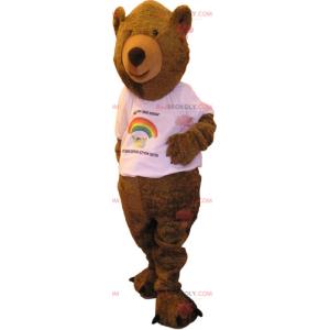 Niedźwiedź maskotka z t-shirtem - Redbrokoly.com