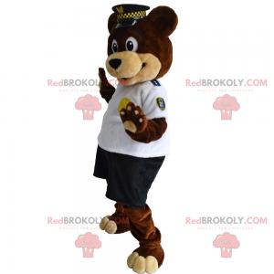 Medvěd maskot v ochrance - Redbrokoly.com