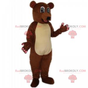 Braunbärenmaskottchen und klarer Bauch - Redbrokoly.com