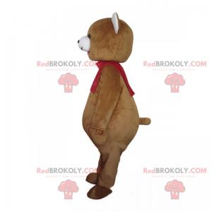 Teddybär Maskottchen mit seinem roten Schal - Redbrokoly.com
