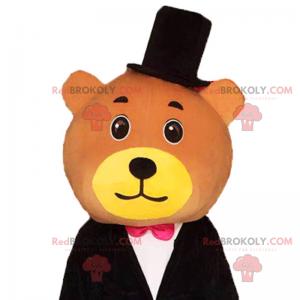 Usmívající se medvěd hnědý maskot - Redbrokoly.com