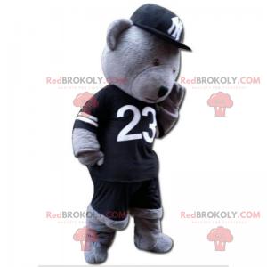 Medvěd maskot oblečený jako hráči Yankees - Redbrokoly.com