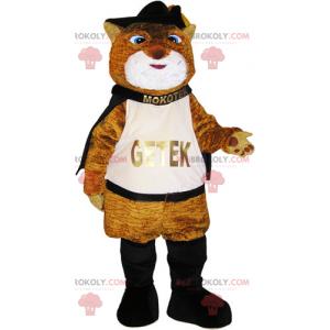 Brown boot cat mascot - Redbrokoly.com