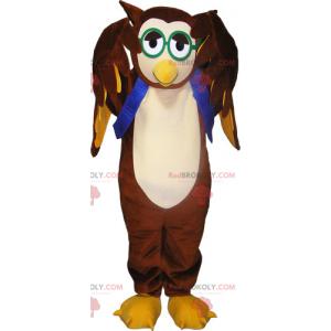 Owls mascot and green glasses - Redbrokoly.com