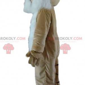 Gepardenmaskottchen katzenbraun weiß und schwarz -