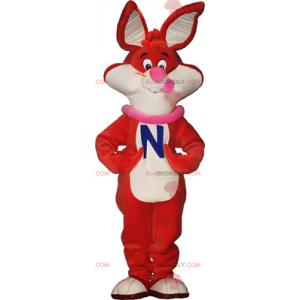 Oranžový králík maskot - Redbrokoly.com