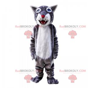 Wolf mascot with blue eyes - Redbrokoly.com
