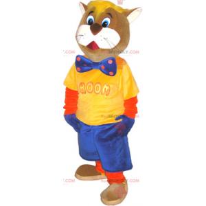 Maskottchen Mr. Cat mit Fliege - Redbrokoly.com