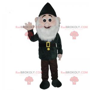 Sněhobílý trpasličí maskot - zelené oblečení - Redbrokoly.com