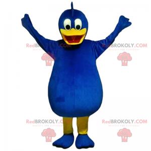 Blaues Vogelmaskottchen - Redbrokoly.com