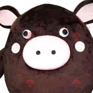 Maskottchencharakter - Rundes Schwein - Redbrokoly.com