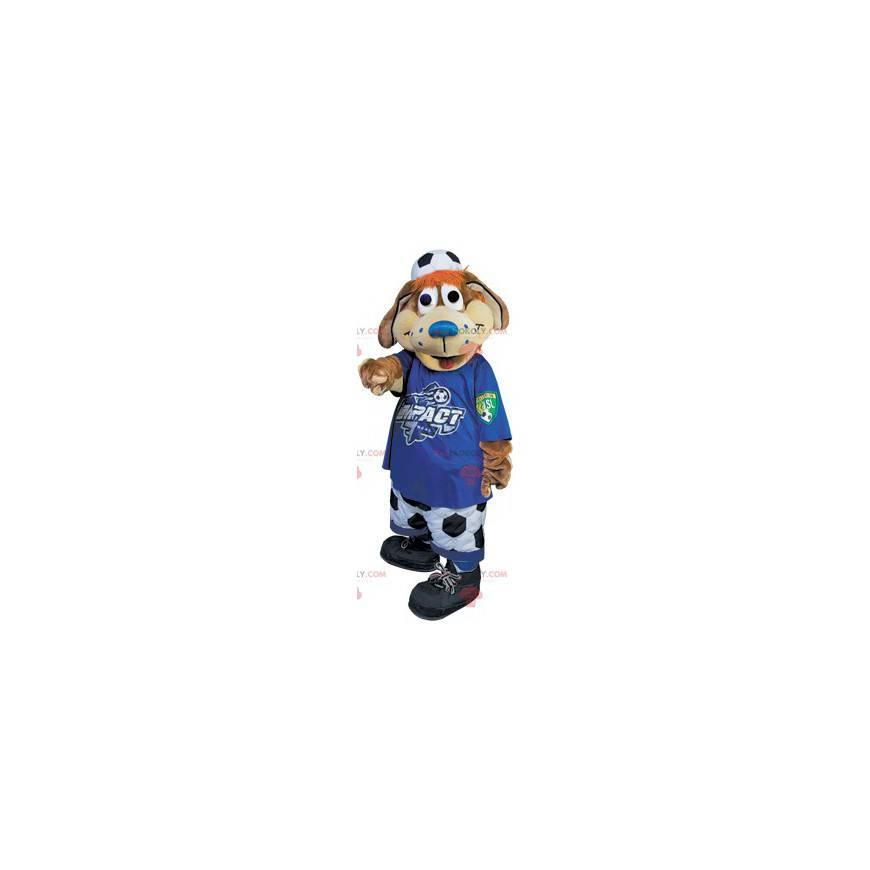 Fotbalový fanoušek hnědý pes maskot - Redbrokoly.com