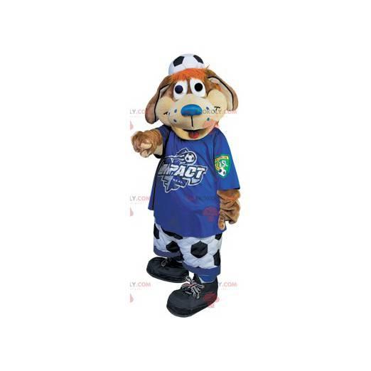 Maskotka brązowy pies kibica piłki nożnej - Redbrokoly.com