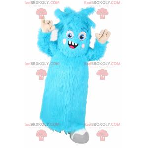 Maskottchencharakter - Kleines blaues Monster - Redbrokoly.com