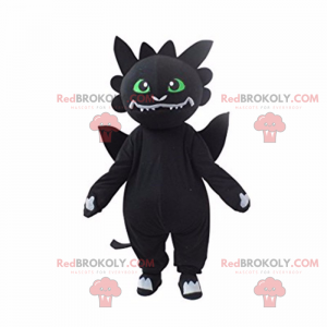 Rysunek postaci maskotki anime - czarny kot - Redbrokoly.com
