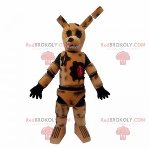 Maskot kresba postav anime - králík zničit - Redbrokoly.com