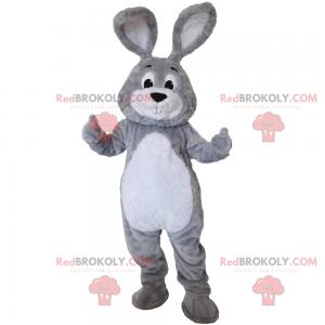 Little gray rabbit mascot - Redbrokoly.com
