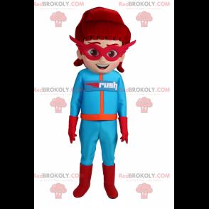 Super heroine mascot - Redbrokoly.com