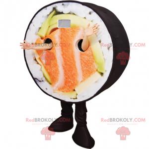 Sushi mascot with salmon - Redbrokoly.com