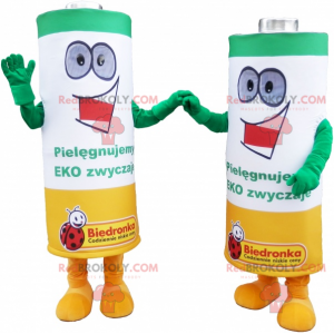 Battery duo mascots - Redbrokoly.com