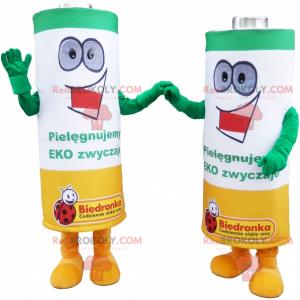 Mascottes duo de piles - Redbrokoly.com