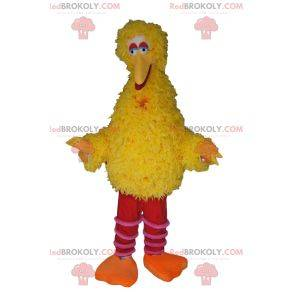 Mascote gigante do pato amarelo. Fantasia de pato