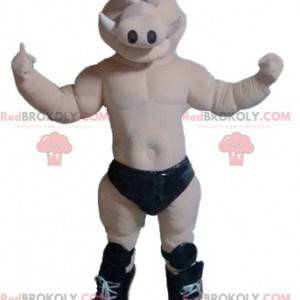 Maskottchen Wildschwein nackt mit schwarzen Unterhosen -