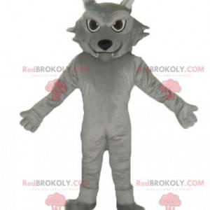 Giant and cute gray cat mascot - Redbrokoly.com