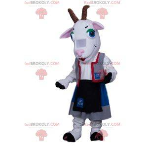 Goat mascot in Austrian outfit