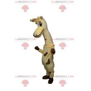 Meget sød giraf maskot med smukke øjne