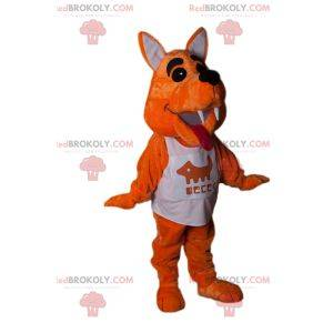 Little fox mascot with sports jersey